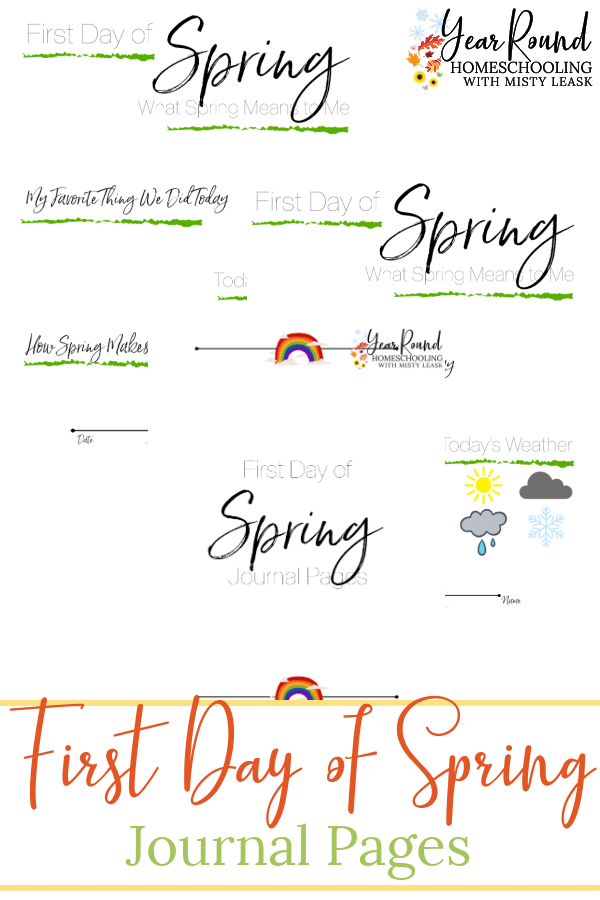 first day of spring journal, journal first day spring