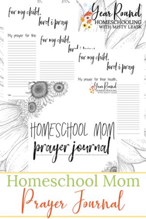 Homeschool Mom Printable Prayer Journal