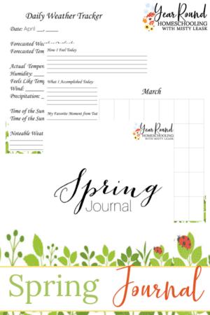 Printable Spring Journal