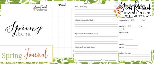 spring journal, journal spring