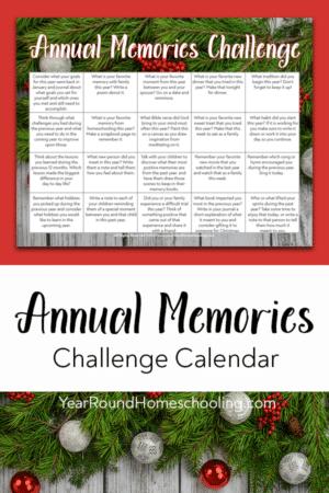 Memories Challenge Calendar