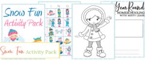 snow fun pack, snow fun activity pack, snow fun printable, snow printable, fun snow printable