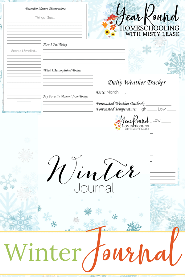 winter journal, winter journal for kids, journal winter, kids winter journal