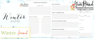 winter journal, winter journal for kids, journal winter, kids winter journal
