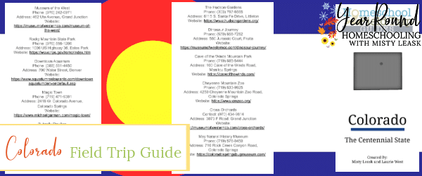 colorado field trip guide, field trip guide colorado