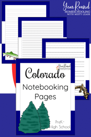 Colorado Notebooking Pages Pack