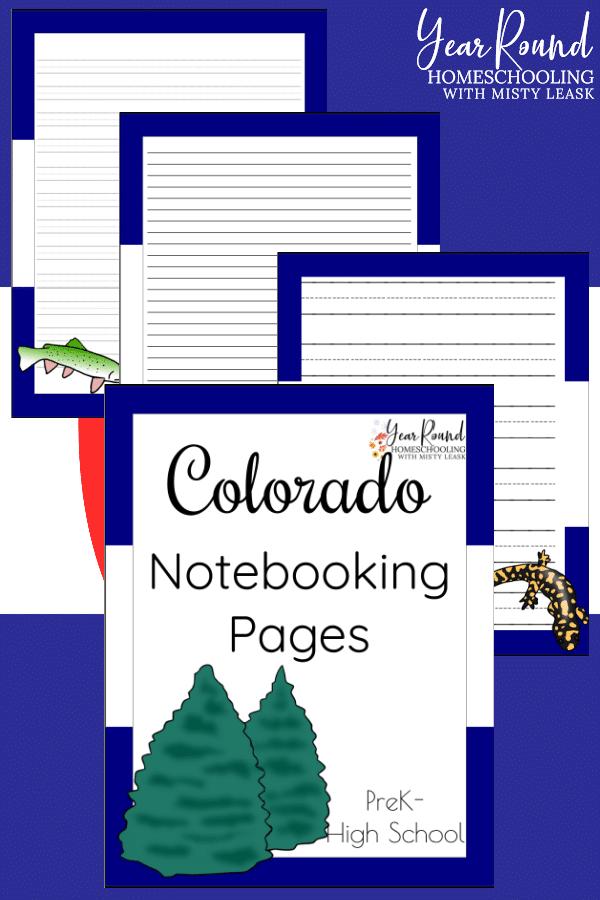 colorado notebooking pages, colorado notebooking