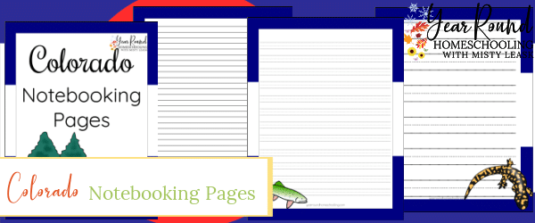 colorado notebooking pages, colorado notebooking