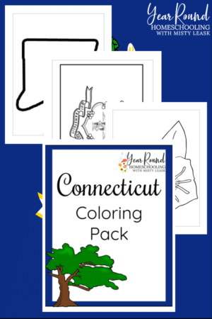Connecticut Coloring Pages Pack