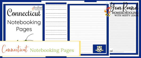 connecticut notebooking pages, connecticut notebooking