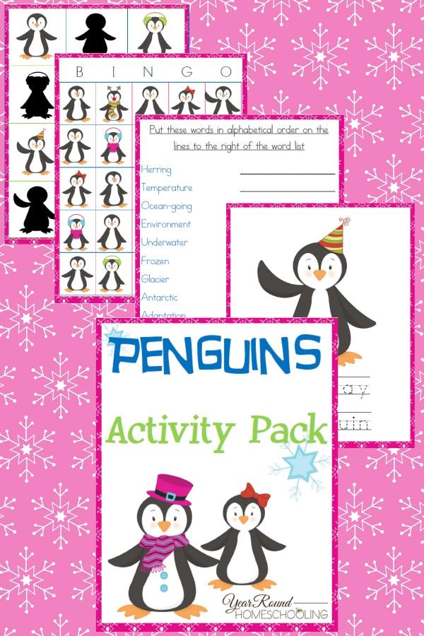 penguins activity pack, penguin activity pack, penguins pack, penguin pack