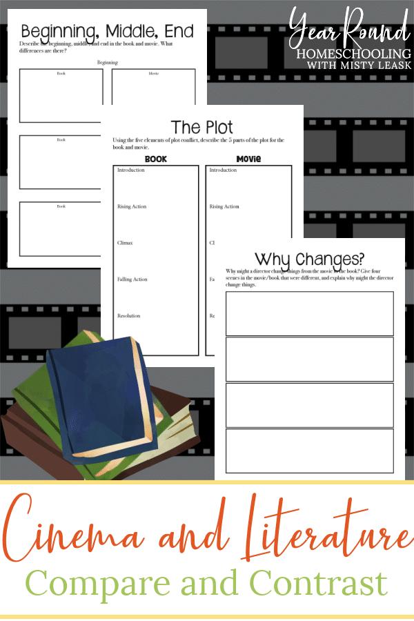 cinema and literature compare and contrast pack, cinema and literature compare and contrast, cinema and literature compare, cinema and literature contrast