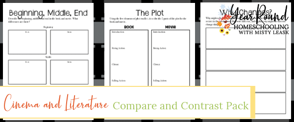 cinema and literature compare and contrast pack, cinema and literature compare and contrast, cinema and literature compare, cinema and literature contrast