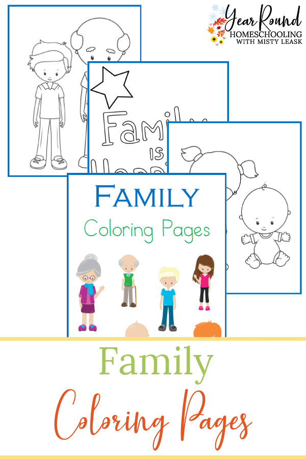 Family Coloring Pages Year Round Homeschooling