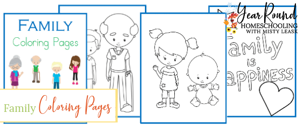 family coloring pages, family coloring, family color