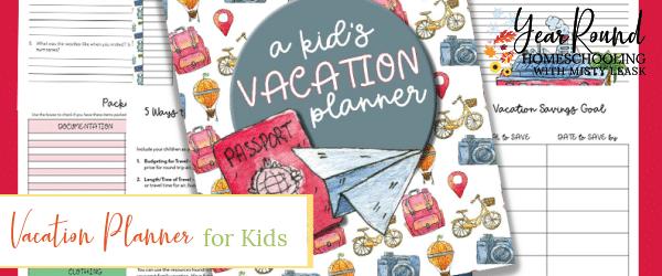kids vacation planner, vacation planner kids, vacation planner for kids