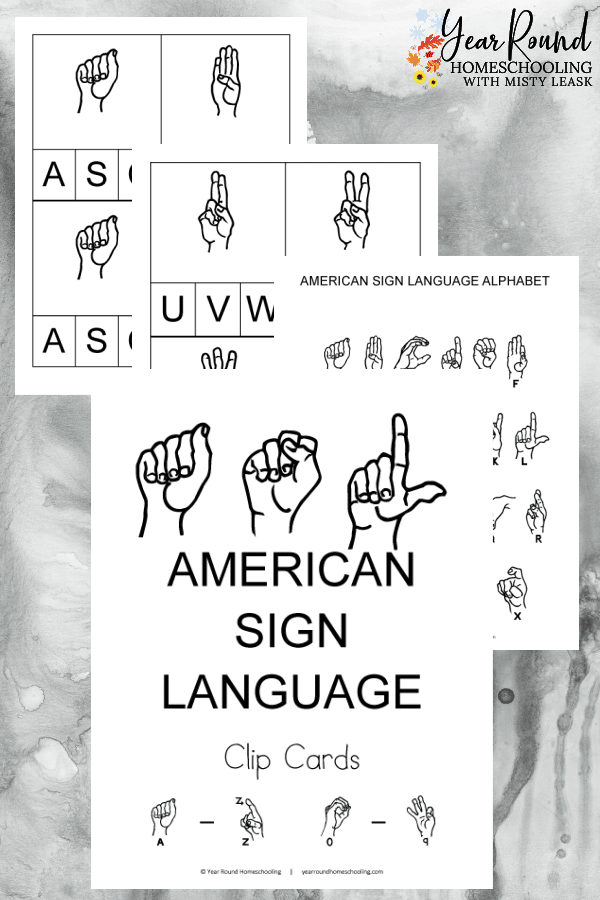 american sign language clip cards, clip cards american sign language, asl clip cards, clip cards asl