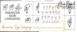 american sign language flashcards, american sign language posters, asl flashcards, asl posters