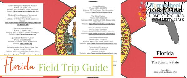 florida field trip guide, field trip guide florida, field trips florida, florida field trips