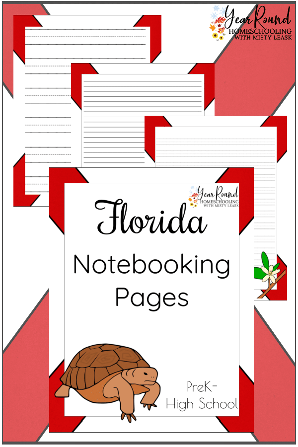 notebooking pages florida, florida notebooking, florida notebooking pages,
