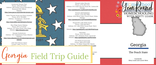 georgia field trip guide, field trip guide georgia, georgia state field trip guide, field trip guide georgia state