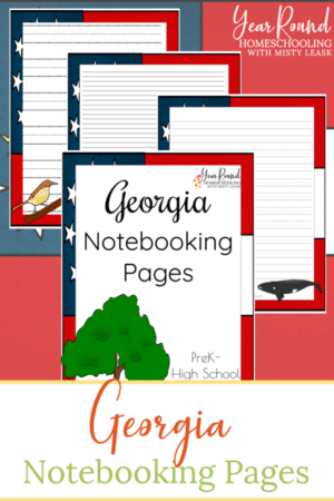 Georgia Notebooking Pages Pack