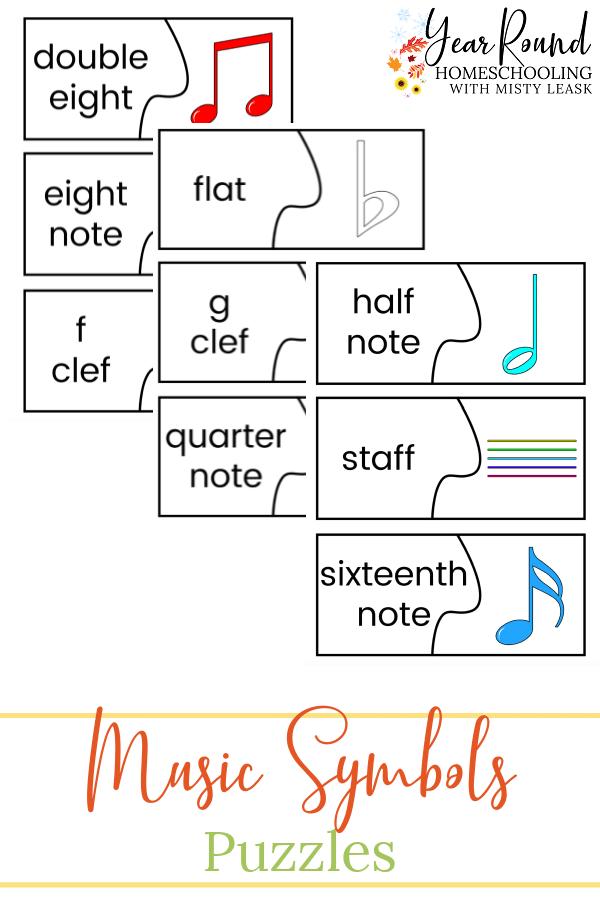 music symbols puzzles, music symbols puzzle match