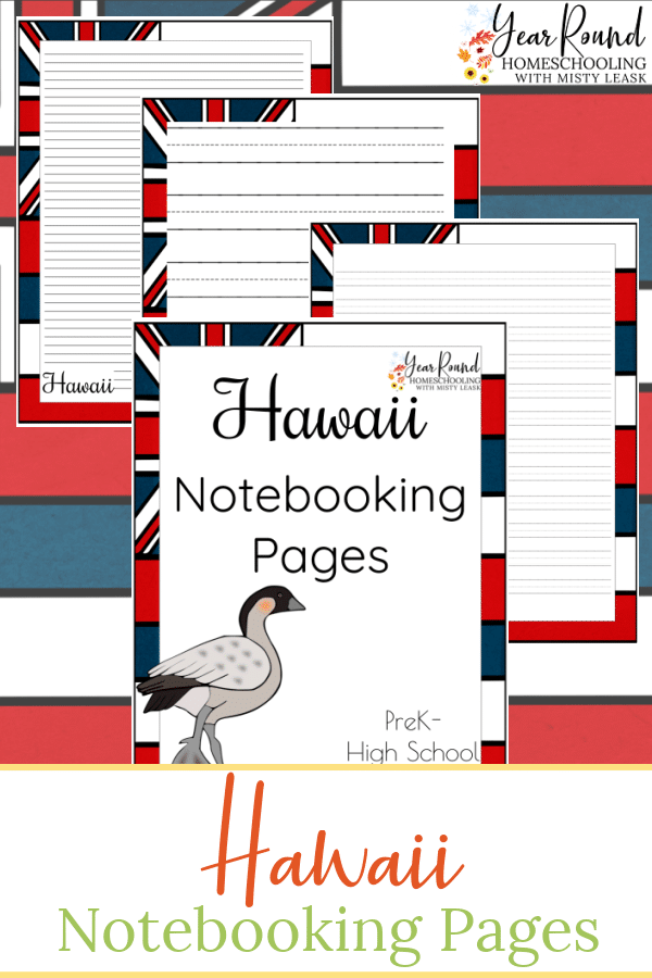 hawaii notebooking pages, notebooking pages hawaii, hawaii notebooking, notebooking hawaii