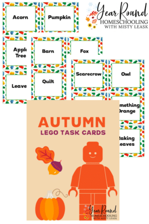 Fall Lego Task Cards Pack