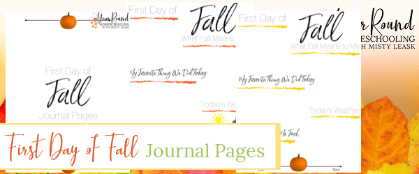 first day of fall journal, journal first day fall