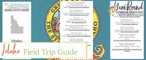 idaho field trip guide, field trip guide idaho