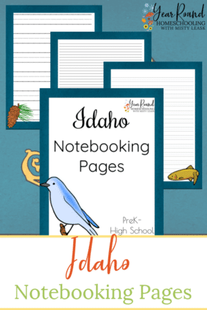 Idaho Notebooking Pages Pack