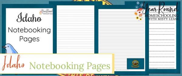 idaho notebooking pages, notebooking pages idaho, idaho notebooking, notebooking idaho