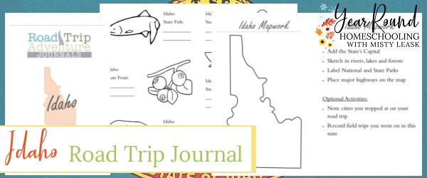 idaho road trip journal, road trip journal idaho, idaho journal, journal idaho