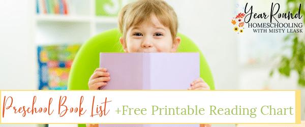 preschool book list, book list for preschoolers, book list for preschool, preschoolers book list