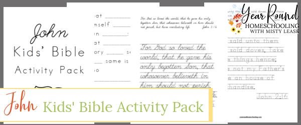 john kids bible activity pack, kids john bible activity pack, john bible activity pack kids